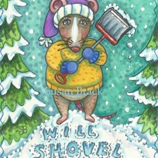 Art: SHOVEL FOR CHEESE by Artist Susan Brack