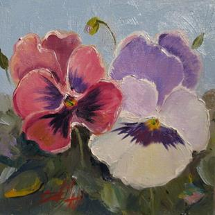 Art: Dreaming Pansies by Artist Delilah Smith
