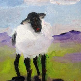 Art: Lost Sheep by Artist Delilah Smith