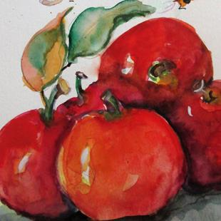 Art: Apples and Bees No. 4 by Artist Delilah Smith