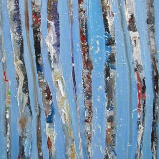 Art: Abstract Birch Trees by Artist Delilah Smith