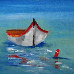 Art: Row Boat No.5 by Artist Delilah Smith