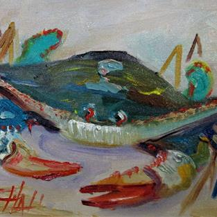 Art: Blue Crab No.9 by Artist Delilah Smith