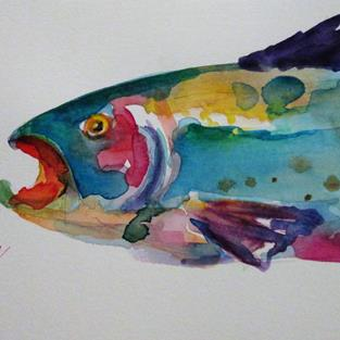 Art: Trout No.7 by Artist Delilah Smith