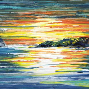 Art: Sunset Painting by Artist Leonard G. Collins