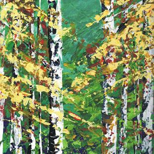 Art: Aspen Painting by Artist Leonard G. Collins