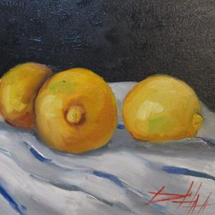 Art: Three Lemons No. 2 by Artist Delilah Smith