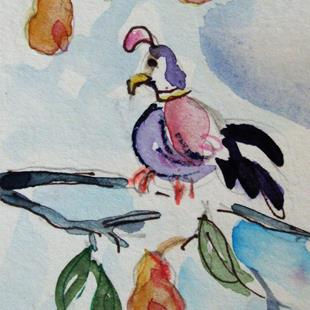 Art: A Partridge in a Pear Tree NO. 5 by Artist Delilah Smith