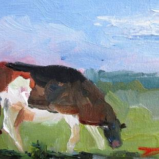 Art: Grazing Cow by Artist Delilah Smith