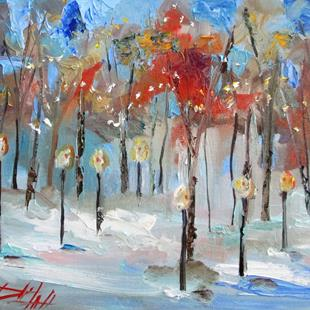 Art: Winter Lights-sold by Artist Delilah Smith