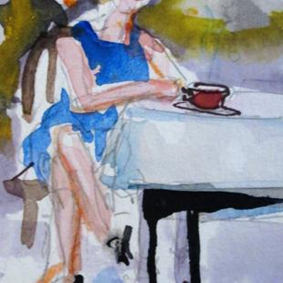 Art: Morning Coffee by Artist Delilah Smith