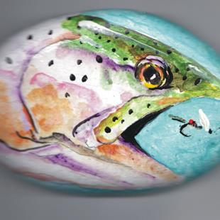 Art: Royal Coachman Dry Fly submerged by Artist Leonard G. Collins