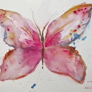 Art: Pink Butterfly by Artist Delilah Smith