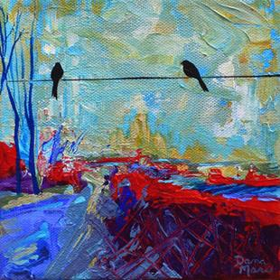 Art: The Road Less Traveled ~ Birds on a Wire Series - Sold by Artist Dana Marie
