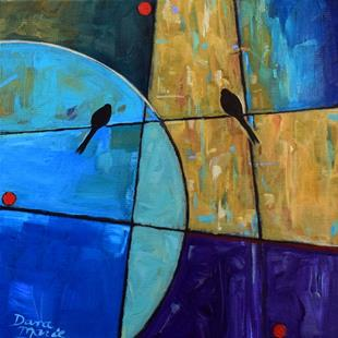 Art: To the Moon and Back ~ Birds on a Wire Series - Sold by Artist Dana Marie