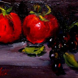 Art: Tomato's and Grapes by Artist Delilah Smith