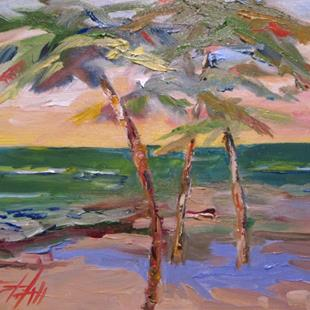 Art: Jamaican Palm Trees=sold by Artist Delilah Smith