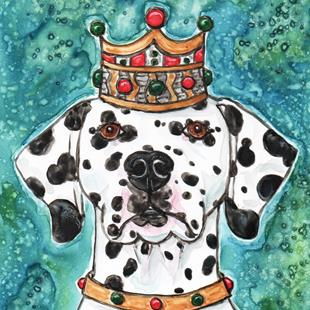 Art: King Dal with Jewels by Artist Melinda Dalke