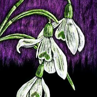 Art: Snowdrop  (SOLD) by Artist Monique Morin Matson