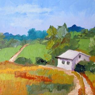 Art: Spacious Skies-sold by Artist Delilah Smith