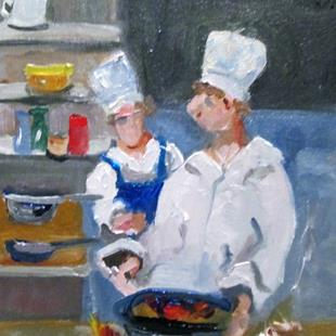 Art: Chef by Artist Delilah Smith