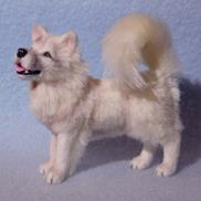 Art: Silk Furred Samoyed by Camille Meeker Turner