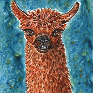 Art: Llama with Colors 2 by Artist Melinda Dalke