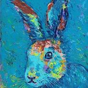 Art: Funny Bunny Blue - sold by Ulrike 'Ricky' Martin