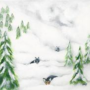 Art: Doggy Snow Day by Deb Harvey
