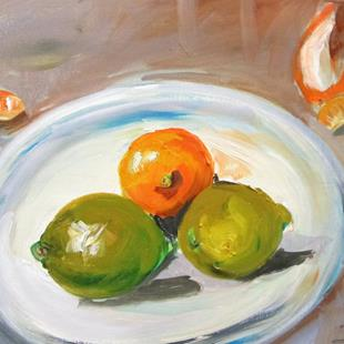 Art: Orange and Limes by Artist Delilah Smith
