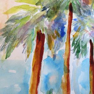 Art: Cabbage Palm by Artist Delilah Smith