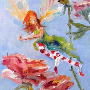 Art: Rose Fairy by Artist Delilah Smith