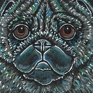 Art: Pop Color Pug by Artist Melinda Dalke