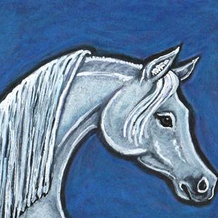 Art: Stallion and Blues by Artist Melinda Dalke