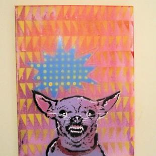 Art: Mad Chihuahua Dog Original Pop Graffiti Art by Artist Paul Lake, Lucky Studios