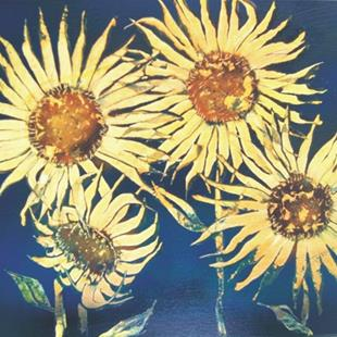 Art: Sunflower Yard ART by Artist Leonard G. Collins