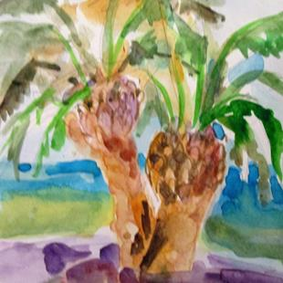 Art: Date Palm Tree by Artist Delilah Smith