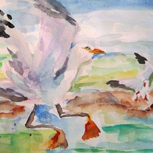 Art: Sea Gulls by Artist Delilah Smith