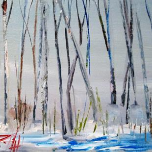 Art: Winter Trees by Artist Delilah Smith