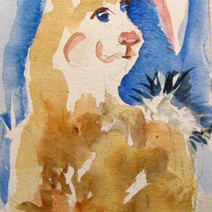 Art: Big Foot Rabbit by Artist Delilah Smith
