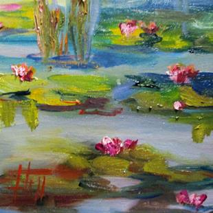 Art: Lily Pond No.6 by Artist Delilah Smith