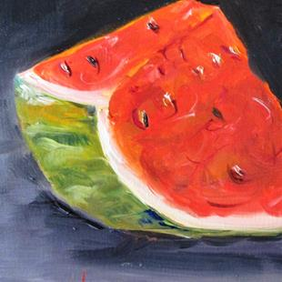 Art: Watermelon Slice No. 3 by Artist Delilah Smith
