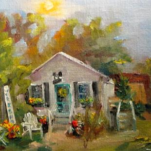 Art: Boxwood Cottage by Artist Delilah Smith