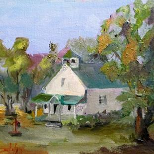 Art: Old School House by Artist Delilah Smith