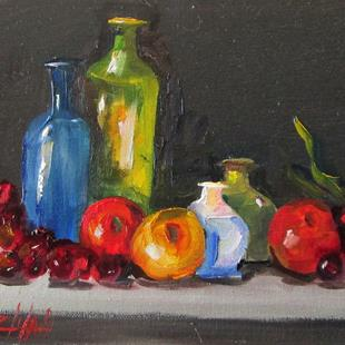 Art: Still Life with Fruit by Artist Delilah Smith