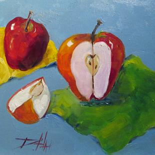 Art: Apples No. 9 by Artist Delilah Smith