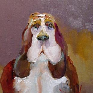 Art: Basset Hound by Artist Delilah Smith