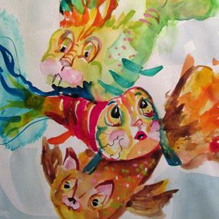 Art: Cat Fish by Artist Delilah Smith