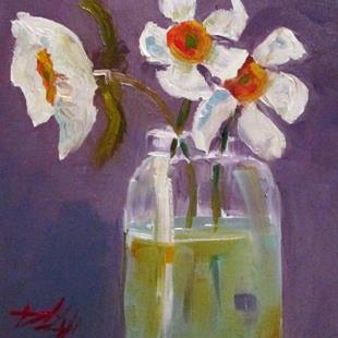 Art: Daffodils in a Jar by Artist Delilah Smith