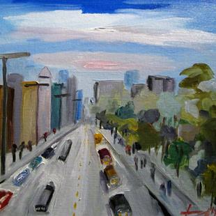 Art: Cityscape No. 2 by Artist Delilah Smith